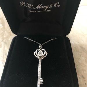 Macy's key pendant necklace